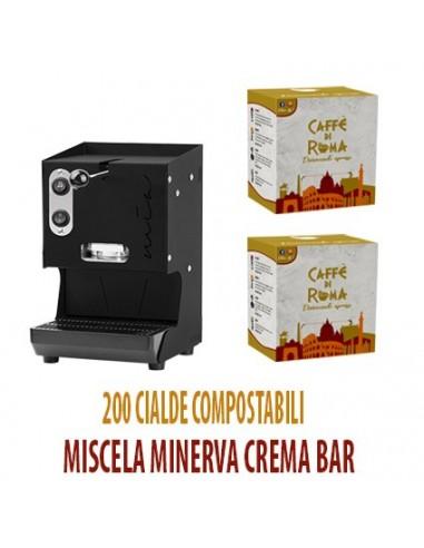 MACCHINA CAFFE AROMA MIA NERA + 200 Cialde Caffe di Roma MINERVA CREMA BAR